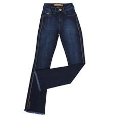 Calça Jeans Azul Escuro Feminina Buphallos Boot Cut 24396