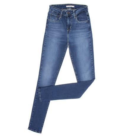 Calça Jeans Azul Feminina Cintura Alta Skinny Levi's 29063