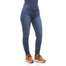 Calça Jeans Azul Feminina Cintura Alta Super Skinny Detalhes Destroyed 720 Levi's 29062