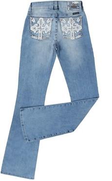 Calça Jeans Boot Cut Feminina Bordada Tassa Gold 21372