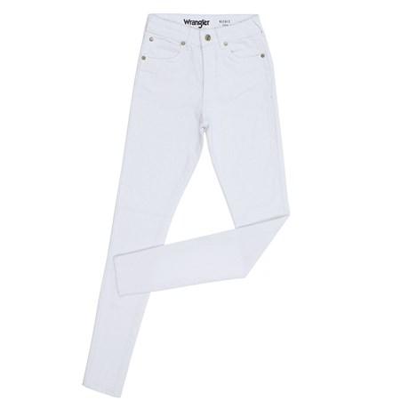 Calça Jeans Branca Cintura Alta Skinny Feminina Wrangler Original 27180