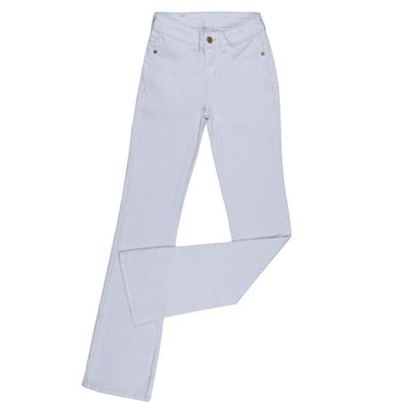 Calça Jeans Branca Feminina Tassa Boot Cut com Elastano 25869