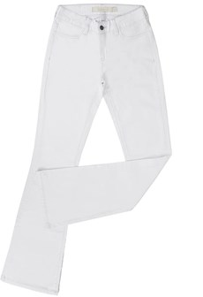 Calça Jeans Branca Feminina Tassa Gold Boot Cut 21366