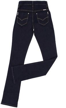 Calça Jeans Cintura Alta Feminina Country & Cia Boot Cut Azul 20138