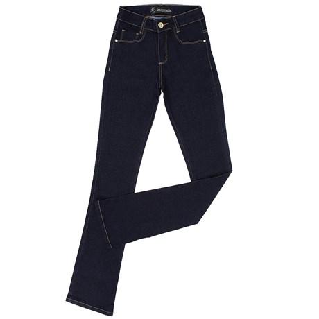 20bbffb96de98 Calça Jeans Cintura Alta Feminina Country   Cia Boot Cut Azul 20138 ...