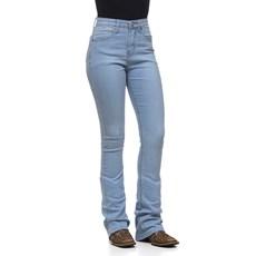 Calça Jeans Delavê Feminina Flare com Elastano Original Western 26230