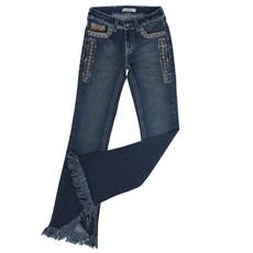 Calça Jeans Escuro Feminina Boot Cut Barra Desfiada Tassa Gold 23868