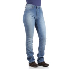 Calça Jeans Feminina Azul Cintura Alta com Elastano Wrangler Original 28415
