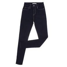 Calça Jeans Feminina Azul Cós Alto Skinny com Elastano 721 Levi's 28307