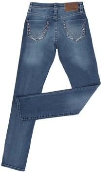 Calça Jeans Feminina Azul Escuro com Bordados e Elastano - Wrangler 303.E4.MS.50