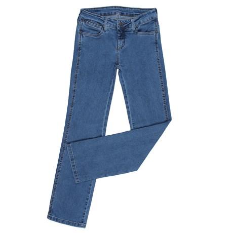 Calça Jeans Feminina Básica Azul Cowboy Cut com Elastano Tassa 25448