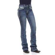 Calça Jeans Feminina Boot Cut Azul com Elastano Tassa Gold 28145