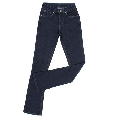 Calça Jeans Feminina Boot Cut Azul Escuro com Elastano Wrangler 27681
