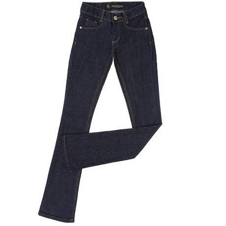 15834468a Calça Jeans Feminina Boot Cut Azul Escuro Country & Cia 20371 ...