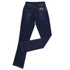 Calça Jeans Feminina Boot Cut Azul Escuro Rodeo Western 26346