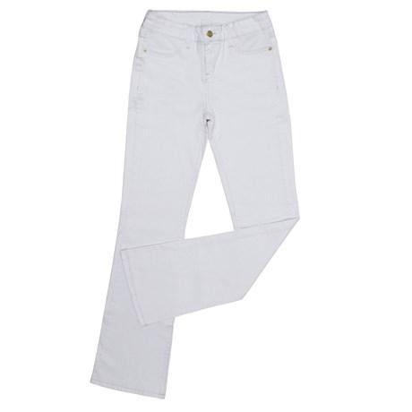 Calça Jeans Feminina Boot Cut Branca Tassa 29994