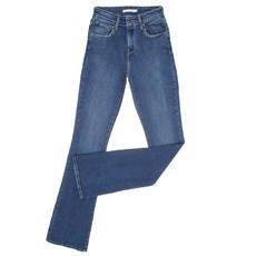 Calça Jeans Feminina Boot Cut com Cintura Alta Azul Levi's 29170