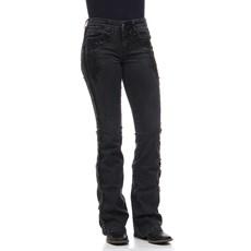 Calça Jeans Feminina Boot Cut com Elastano Trabalhada Tassa 24854