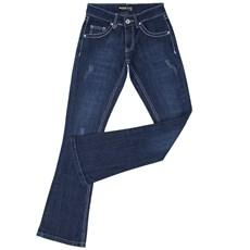 Calça Jeans Feminina Boot Cut Dock's Azul 19877