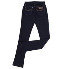 Calça Jeans Feminina Boot Cut Escura Rodeo Western 22647
