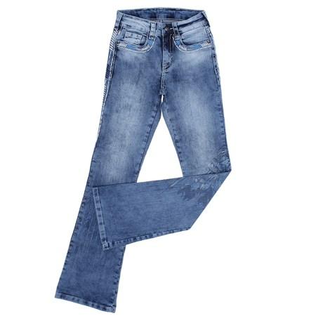 Calça Jeans Feminina Boot Cut Tassa Gold Azul Claro 27030