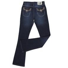 Calça Jeans Feminina Bordada Country Azul Escuro Original Wrangler 23984