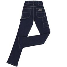 Calça Jeans Feminina Carpinteira Azul Escuro - Country & Cia 18735