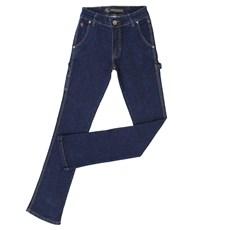 Calça Jeans Feminina Carpinteira Azul Escuro - Country & Cia 23091