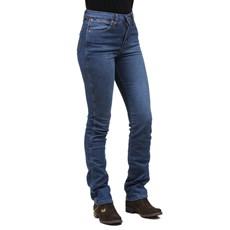 Calça Jeans Feminina Cintura Alta Azul Cowboy Cut Original Wrangler 28210