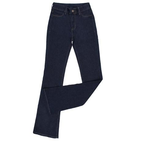 Calça Jeans Feminina Cintura Alta Boot Cut com Elastano Tassa 24857
