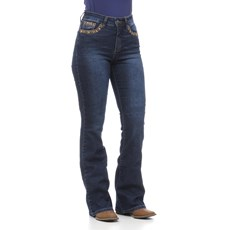Calça Jeans Feminina Cintura Alta Boot Cut Tassa 30152