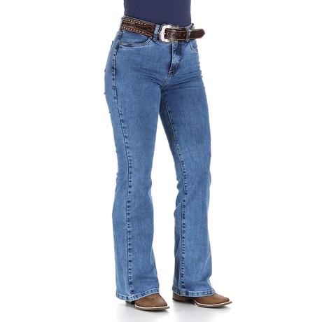 Calça Jeans Feminina Cintura Alta Cowboy Cut Azul Tassa 29991