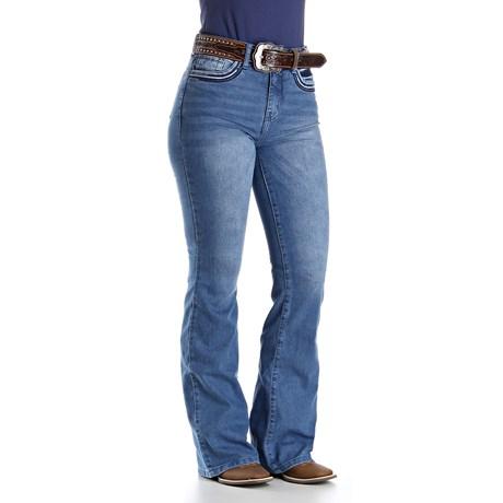 Calça Jeans Feminina Cintura Alta Cowboy Cut Azul Tassa 29992