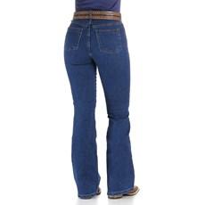 Calça Jeans Feminina Cós Alto Cowboy Cut Azul Tassa 29989
