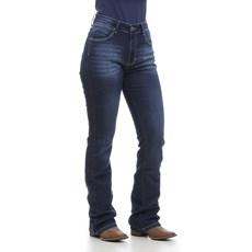 Calça Jeans Feminina Cós Médio Boot Cut Azul Wrangler 30040