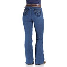 Calça Jeans Feminina Cowboy Cut Azul Cintura Alta Tassa Gold 29995