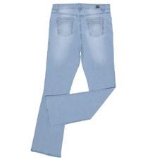 Calça Jeans Feminina Delavê com Elastano Cintura Alta Tassa 28524