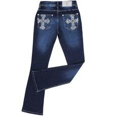 Calça Jeans Feminina Escura com Elastano - Fence Western 18932 ... 247939379d9