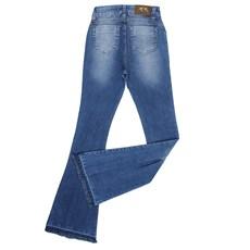 Calça Jeans Feminina Flare Azul Clara Dock's 23926