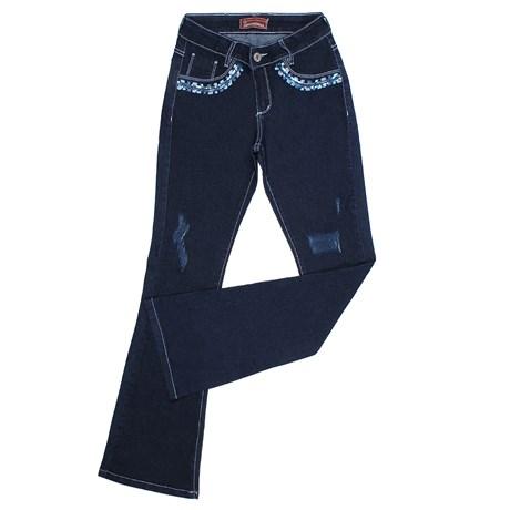 Calça Jeans Feminina Flare Azul com Elastano Smith Brothers 25582