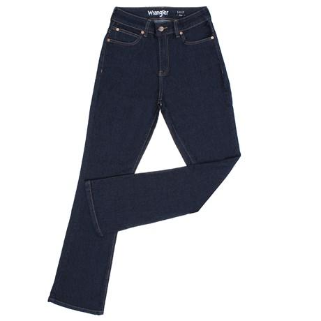Calça Jeans Feminina Flare Azul com Elastano Wrangler Original 28390