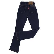 Calça Jeans Feminina Flare Azul Escuro Rodeo Western 22655
