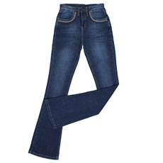Calça Jeans Feminina Flare Azul Original Wrangler 25173