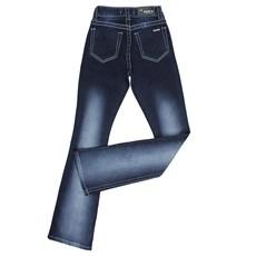 7392bda4a ... Calça Jeans Feminina Flare com Apliques Dock's 24271