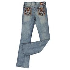 2b5a60c12 ... Calça Jeans Feminina Manchada Tassa Gold Boot Cut 23968