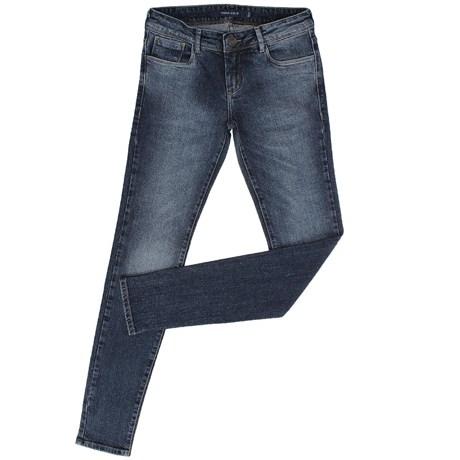 44de4f7ce Calça Jeans Feminina Skinny Azul Escuro Bordado Tachas - Tassa Gold 19183