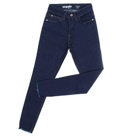 Calça Jeans Feminina Skinny Azul Escuro Original Wrangler 26641