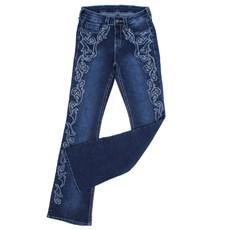 Calça Jeans Feminina Tassa Gold Azul Escuro Boot Cut com Elastano 28147