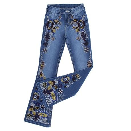 Calça Jeans Feminina Tassa Gold Boot Cut Azul com Elastano 28149