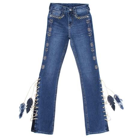 Calça Jeans Feminina  Tassa Gold Boot Cut com Elastano 28146